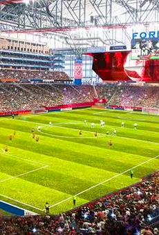 Rendering of Ford Field converted for soccer play.
