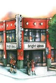 A rendering of the Bright Ideas building on Main Street.