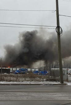A fire at a scrap yard on Detroit's east side.