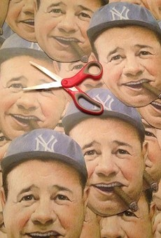Look at all the Babes: Babe Ruth masks being prepared.