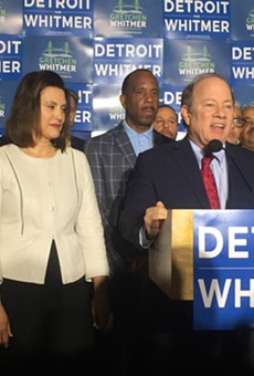 Detroit Mayor Mike Duggan endorses former state Sen. Gretchen Whitmer for Michigan governor.