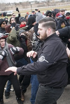 Violent clashes break out before Richard Spencer's speech at MSU