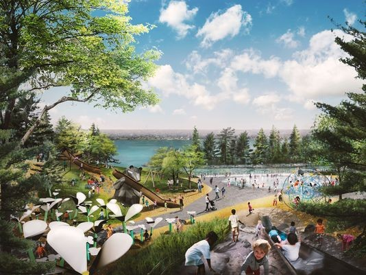 Part of proposed design for West Riverfront Park.