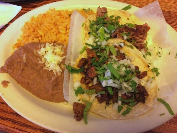 Taco lunch with tacos al pastor and asada. - POSTED TO YELP BY LAURA K. ON JULY 25, 2017