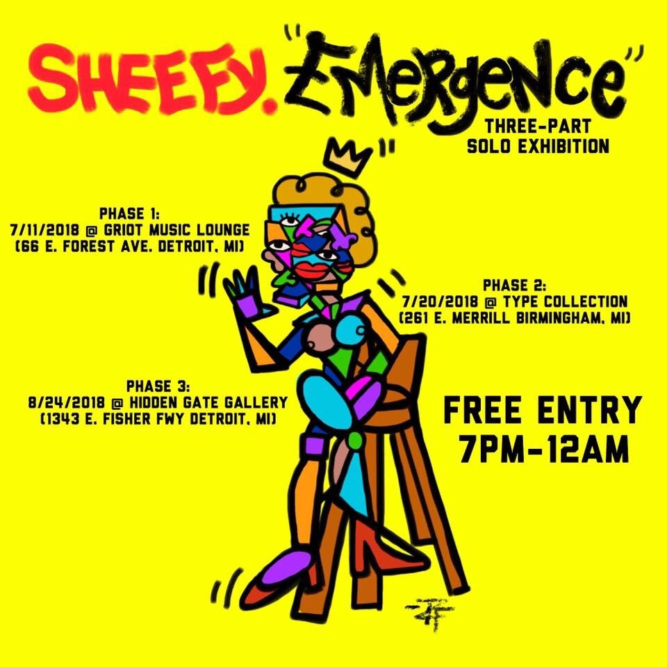 Sheefy McFly made so much art he will have three solo shows this