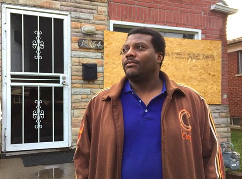 Kevin Dickerson's Detroit home was tax-foreclosed and sold in the Wayne County auction last year. The home had been built at his grandmother's behest in 1950, at a time when black home ownership was extremely rare. - VIOLET IKONOMOVA