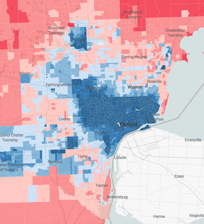 detroit voting precinct map New Map Shows If Your Detroit Neighborhood Is Filled With Trump detroit voting precinct map