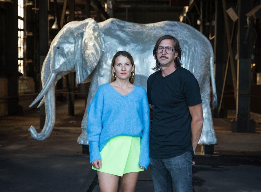 "Hygienic Dress League's Dorota and Steve Coy with ""Limited Edition."" - JON DEBOER"