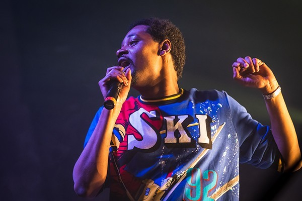 Danny Brown performing at the Majestic Theatre, 2018 - DOUG COOMBE