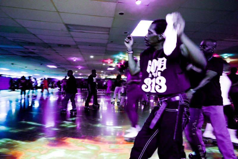 Skaters at a recent adult night at Royal Skate Land. - FRANCHESCA LAMARRE