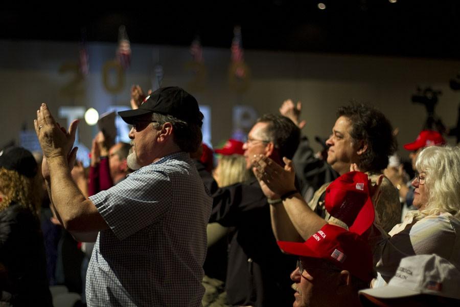 A Trumpless Trump rally. - STEVE NEAVLING
