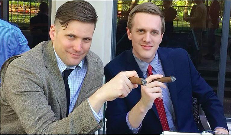 White supremacist Richard Spencer and alt-right attorney Kyle Bristow. - IMAGE VIA TWITTER