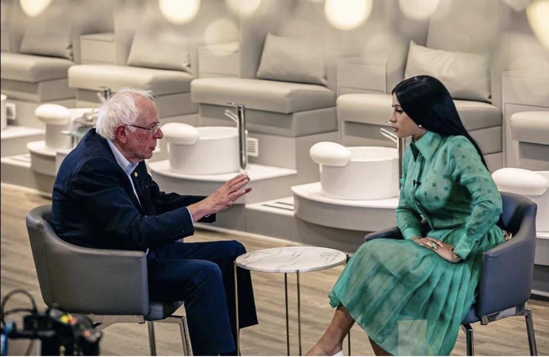Bernie Sanders And Cardi B Met At A Detroit Nail Salon We Don T