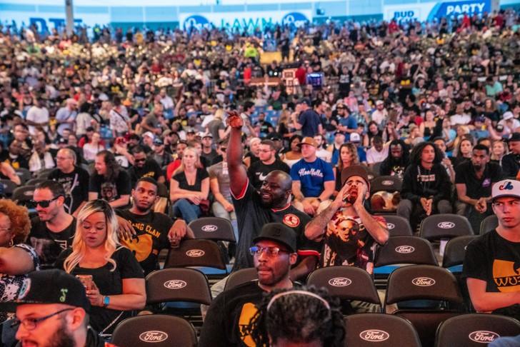 Photo of Michigan Lottery Amphitheatre previously taken at a Wu-Tang Clan show. - JOE MAROON