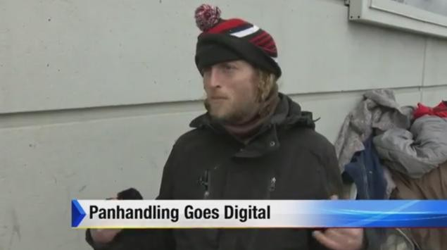 Detroit homeless man will now accept your credit card