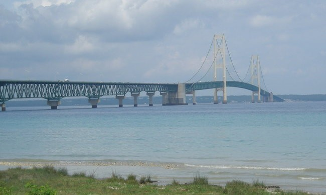 The Enbridge Line 5 replacement pipeline would be buried beneath the Straits of Mackinac. - WIKIMEDIA CREATIVE COMMONS