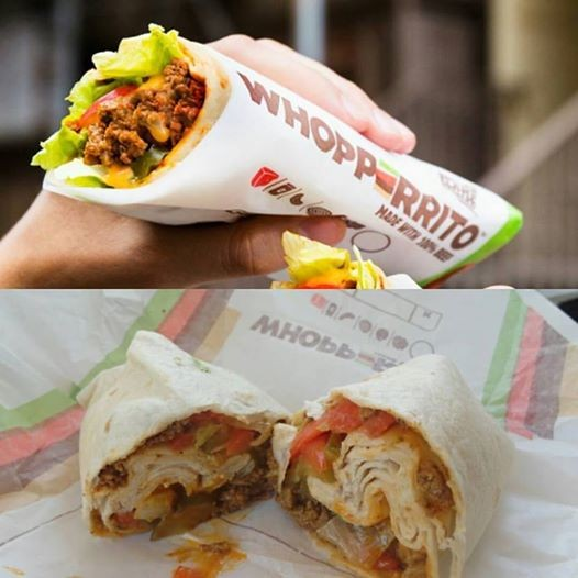 The Photoshopped version versus IRL. - TOP, FROM BURGER KING'S FACEBOOK, BOTTOM SHOT BY SERENA MARIA DANIELS