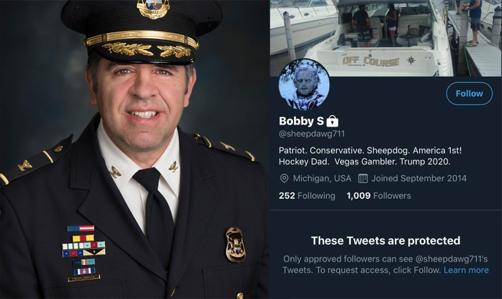 Is Shelby Twp. Police Chief Robert J. Shelide Metro Times troll @sheepdawg711? - SHELBY TWP./TWITTER