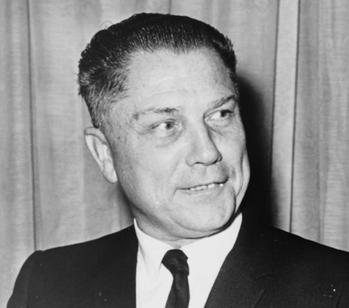 James Riddle Hoffa himself, photographed long before the Cali-style tacos from Detroit that made his name famous. - WORLD TELEGRAM & SUN PHOTO BY JOHN BOTTEGA, MADE AVAILABLE BY WIKIPEDIA CREATIVE COMMONS