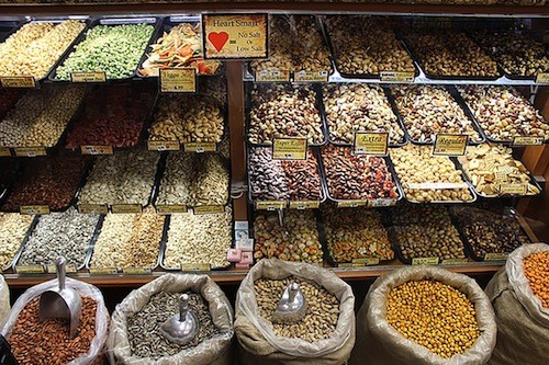 Hashem Nuts in Dearborn is just one of about 100 food businesses on Warren Avenue in Dearborn. - PHOTO COURTESY DAVID WYSCAVER AND THE ARAB AMERICAN NATIONAL MUSEUM