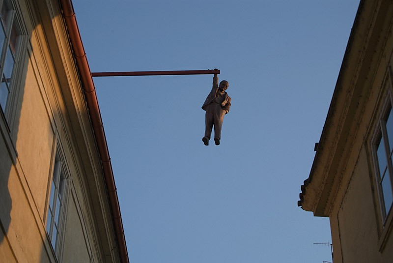 """This sculpture is ofter referred to as """"The Hanging Man."""" - COURTESY PHOTO."""