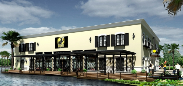 A rendering of the HopCat in Florida, where you can sip on fruity drinks in the sun unlike here in Michigan. - COURTESY PHOTO.
