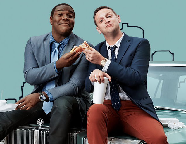 Sam Richardson and Tim Robinson star in Detroiters. - SCREENSHOT FROM CC.COM