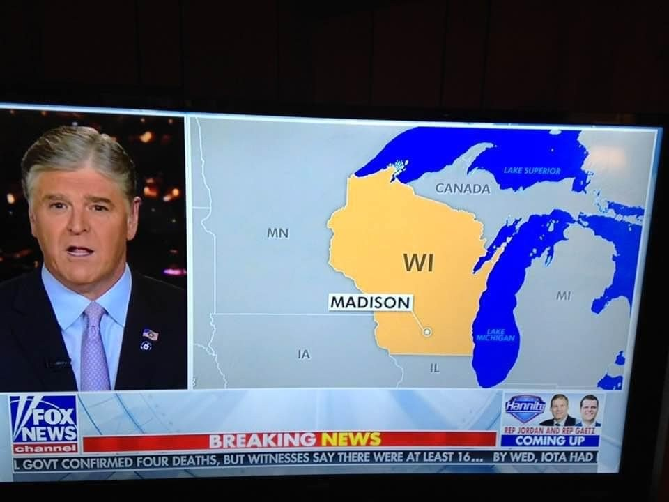 Map Of Upper Peninsula Michigan And Canada Fox News mistakes Michigan's U.P. for Canada, because apparently