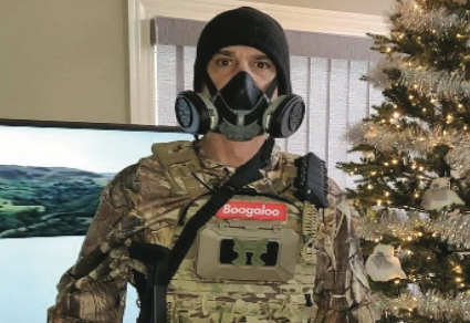 Steven Thurlow posted this image of himself on Facebook before the Jan. 6 riot. - FBI