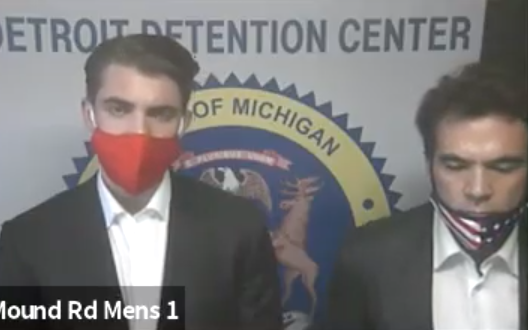 Jacob Wohl and Jack Burkman were arraigned in 36th District Court in Detroit. - SCREENGRAB/36TH DISTRICT COURT