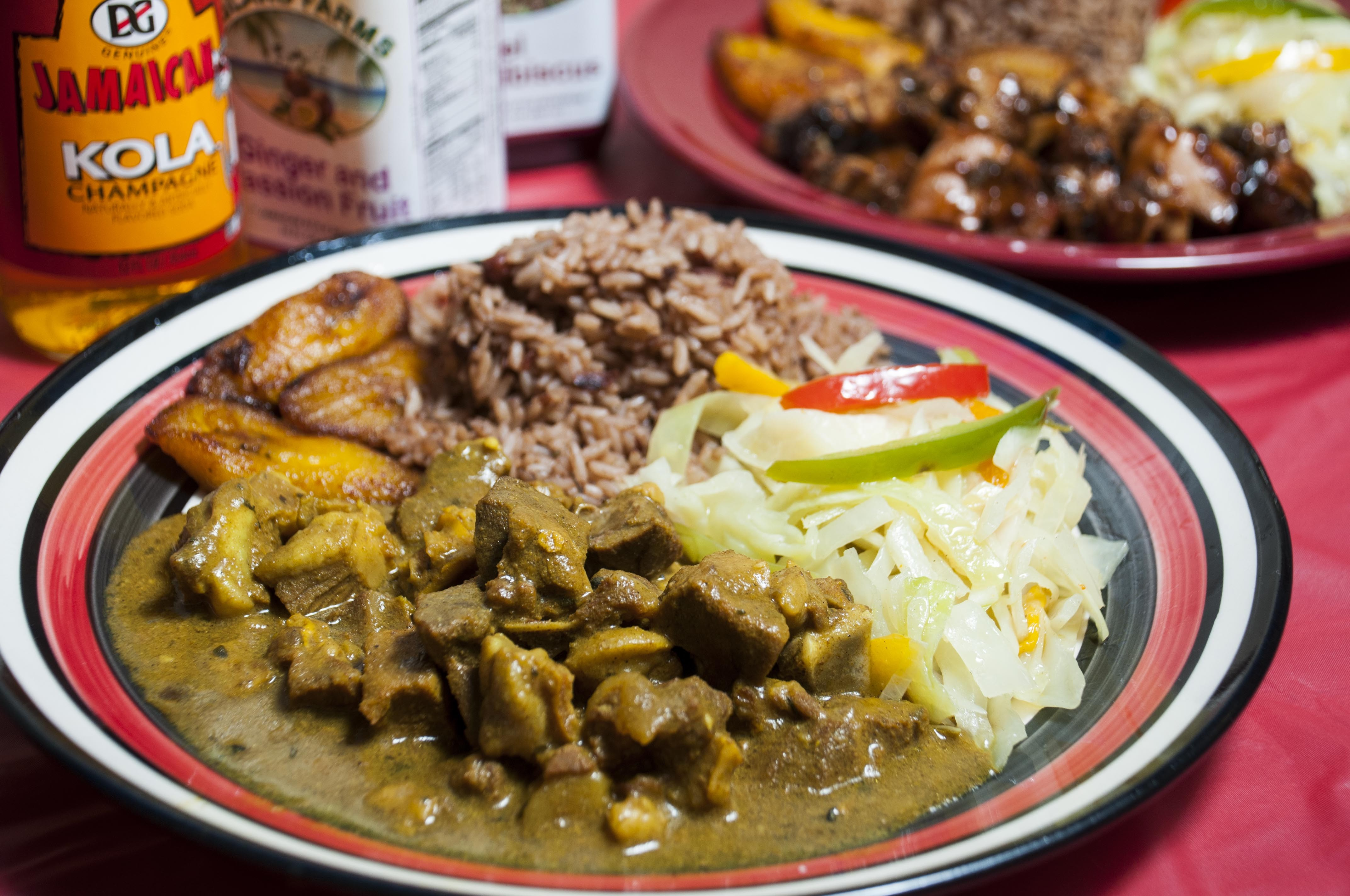 Click To Enlarge Curry Goat At Jamaican Pot Photo By Tom Perkins