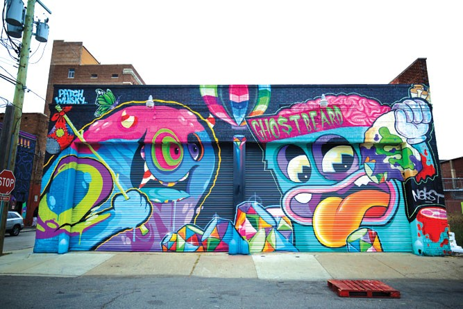 Eastern Market mural by Patch Whisky and Ghostbeard. - DANIEL ISLEY