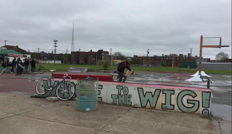 The Wig in Midtown, a DIY skatepark at the site of the former Wigle Recreation Center.