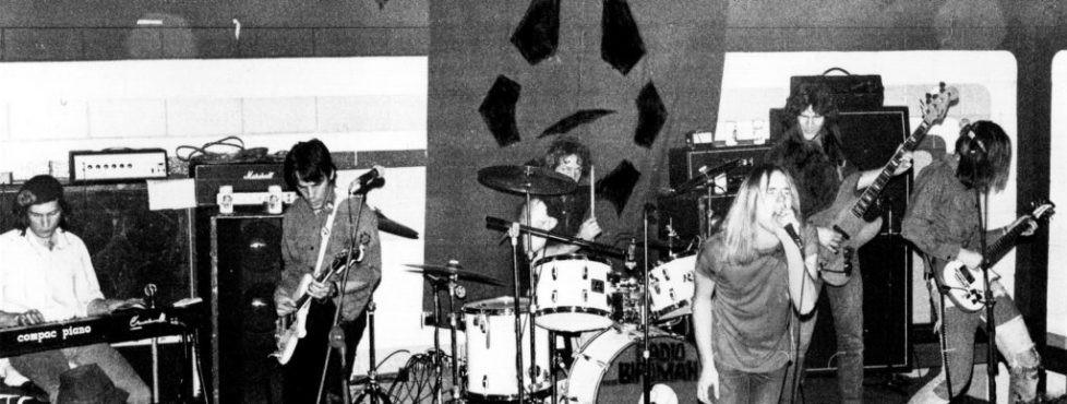 RADIO BIRDMAN PERFORMING LIVE AT BINGHAM HALL, PHOTOGRAPHER UNKNOWN. COURTESY PHOTO.