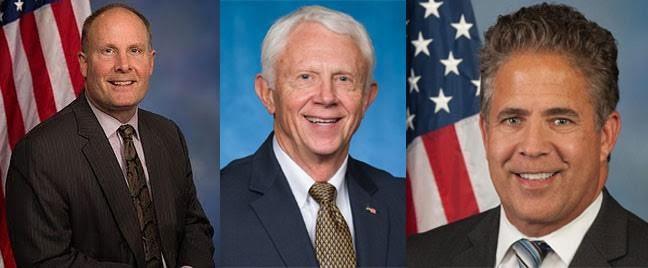 Reps. John Moolenaar, Jack Bergman, and Mike Bishop.