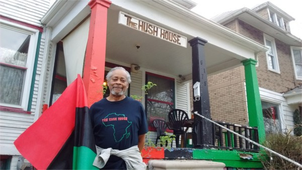 Charles Simmons in front of Hush House on Wabash Street. - PHOTO BY MICHAEL JACKMAN