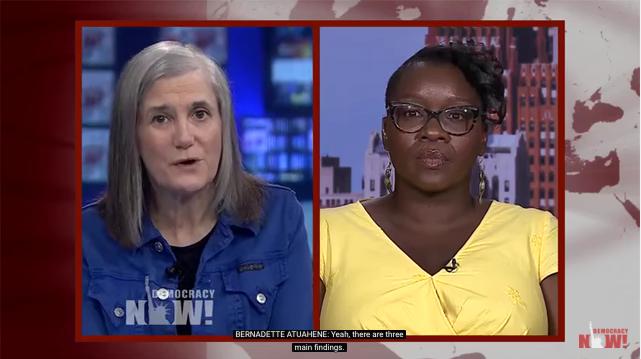 Amy Goodman interviews Bernadette Atuahene on 'Democracy Now' this week. - SCREEN CAPTURE FROM 'DEMOCRACY NOW'