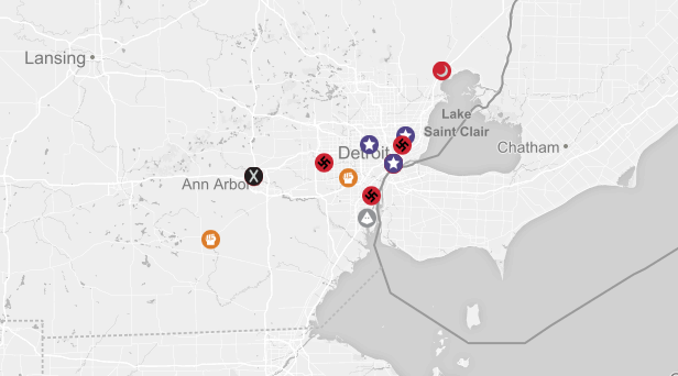 Get To Know Your Detroitarea Hate Groups News Hits - Kkk us map howell