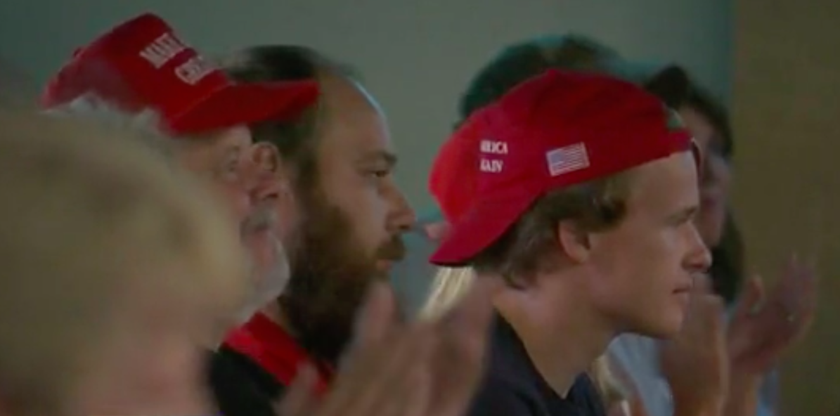 Trump supporters gathered in Howell Tuesday night. - WLNS-TV