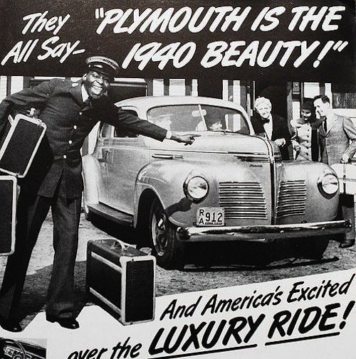 Chrysler ad for Plymouth automobile.