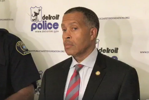 Detroit Police Chief James Craig addresses reporters on Monday. - DETROIT POLICE DEPARTMENT FACEBOOK
