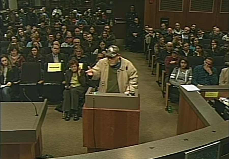 A February Sterling Heights city council meeting over approving a federal consent agreement involving a mosque was so contentious the auditorium had to be cleared. - CITY OF STERLING HEIGHTS