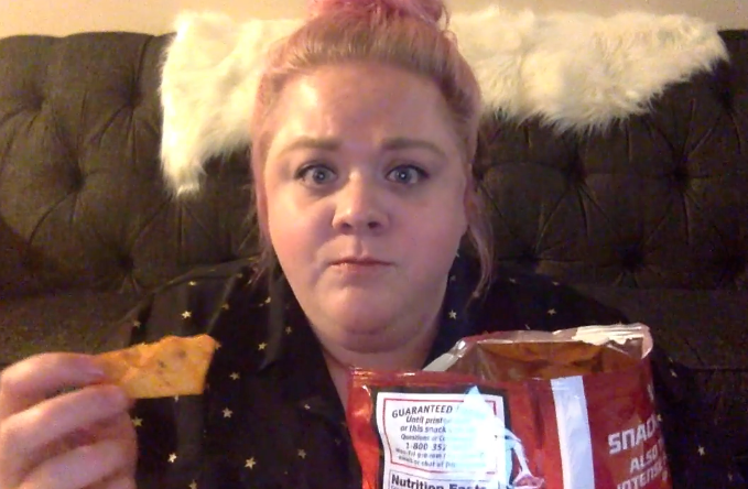 Calli McCain addressed the Lady Doritos controversy in a hilarious Facebook video. - PHOTO VIA FACEBOOK.
