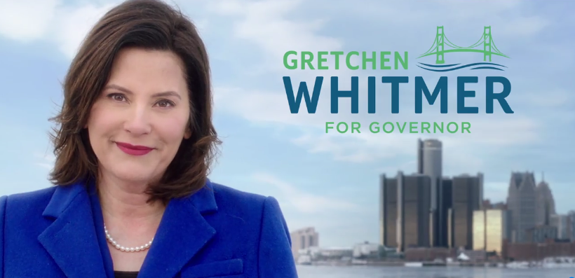 Gretchen Whitmer appears in her first digital ad. - SCREENGRAB