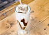 S'mores shake with a lightly charred marshmallow at Mercury Burger Bar.