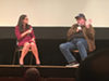 Dr. Mona Hanna-Attisha and Michael Moore speak at the premiere of <i>Fahrenheit 11/9</i> in Flint.