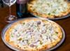 """Seafood """"alla pescatora"""" pizza from La Noria."""