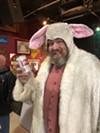Jimmy Doom cracks open a cold one during a recent adult Easter egg hunt.