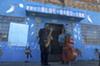 De'Sean Jones and Marion Hayden performing outside of the historic Blue Bird Inn on April 24