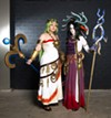 Youmacon, TCF Center and Renaissance Center, Thursday, Oct. 31 through Sunday, Nov. 3. (Pictured: Award-winning cosplay team Sparkle Motion's Sumikins and Rynn Cosplay dressed as Palutena and Medusa from <i>Kid Icarus Uprising</i>.)